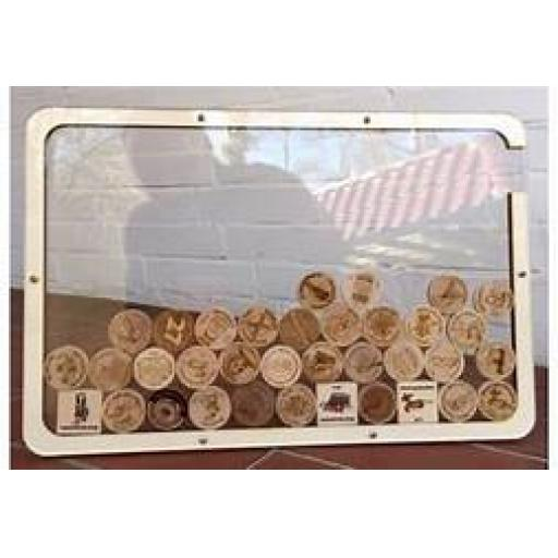 Wood Coin Display Frame