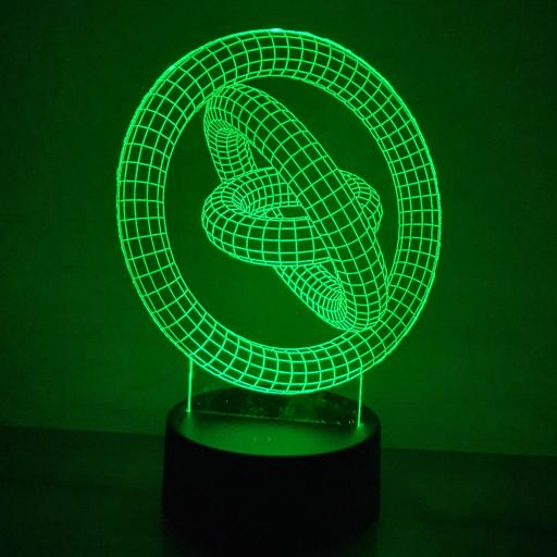 Gyroscopic 3D LED Lamp