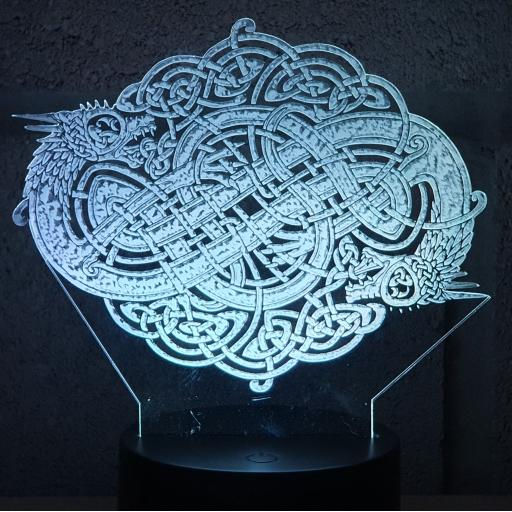 Celtic Dragon 3D LED Lamp