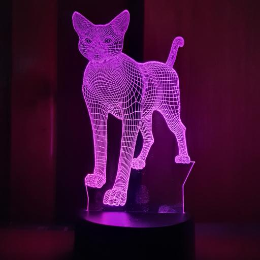 Standing Cat 3D LED Lamp