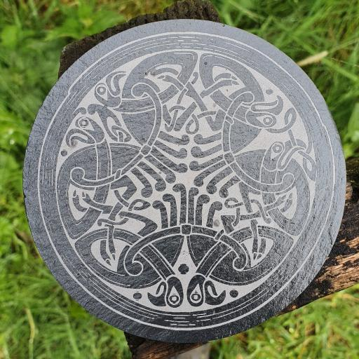 Celtic Crow Coaster
