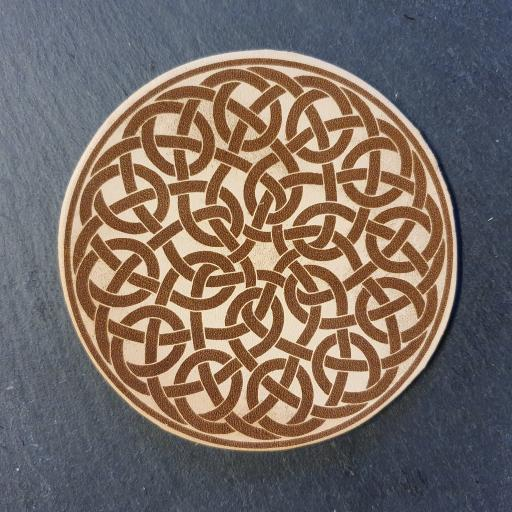Celtic Knot Leather Coaster