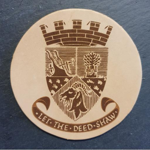 Biggar Coat of Arms - Leather Coaster