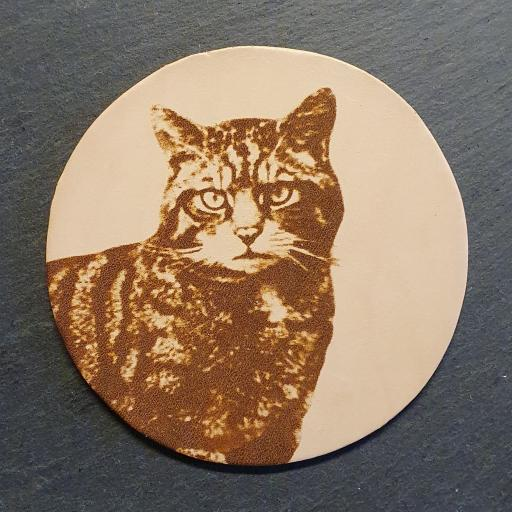 Scottish Wildcat Leather Coaster